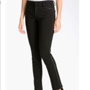NYDJ Ryan Faux Leather Trim Pants
